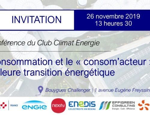 Conférence annuelle du Club Climat Energie